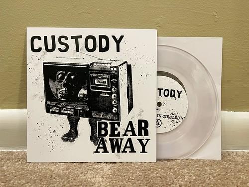 """Custody / Bear Away - Split 7"""" Lathe (Clear, /30)"""