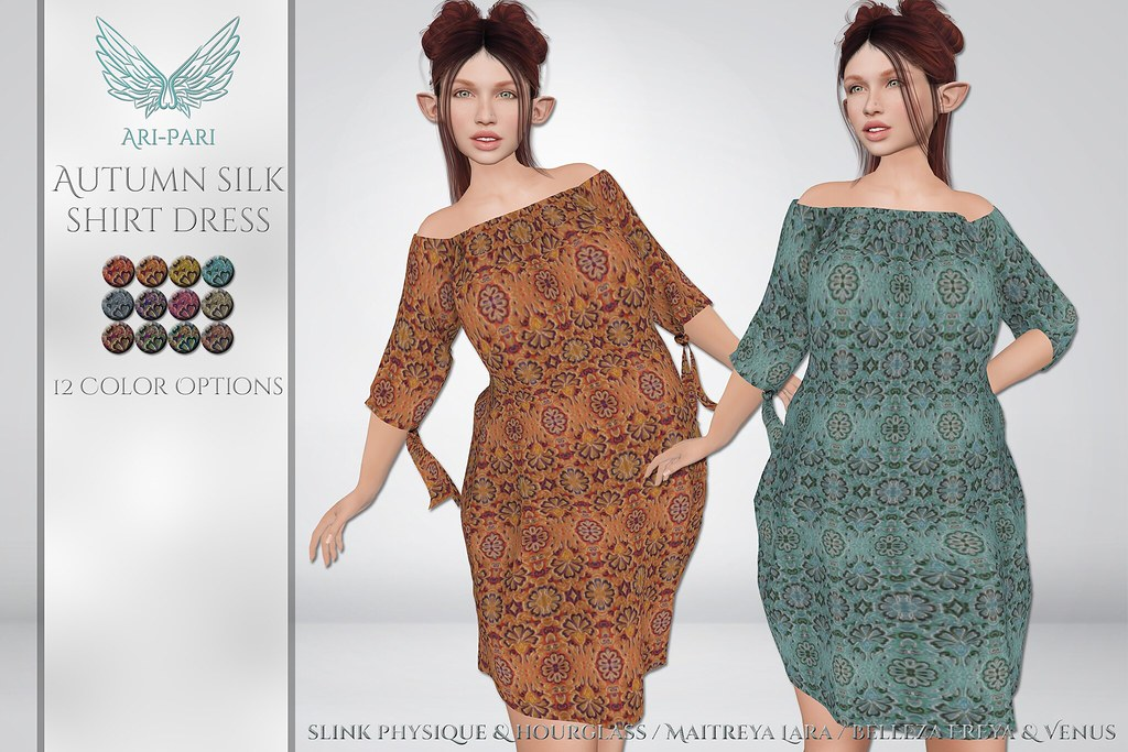 [Ari-Pari] Autumn Silk Shirt Dress