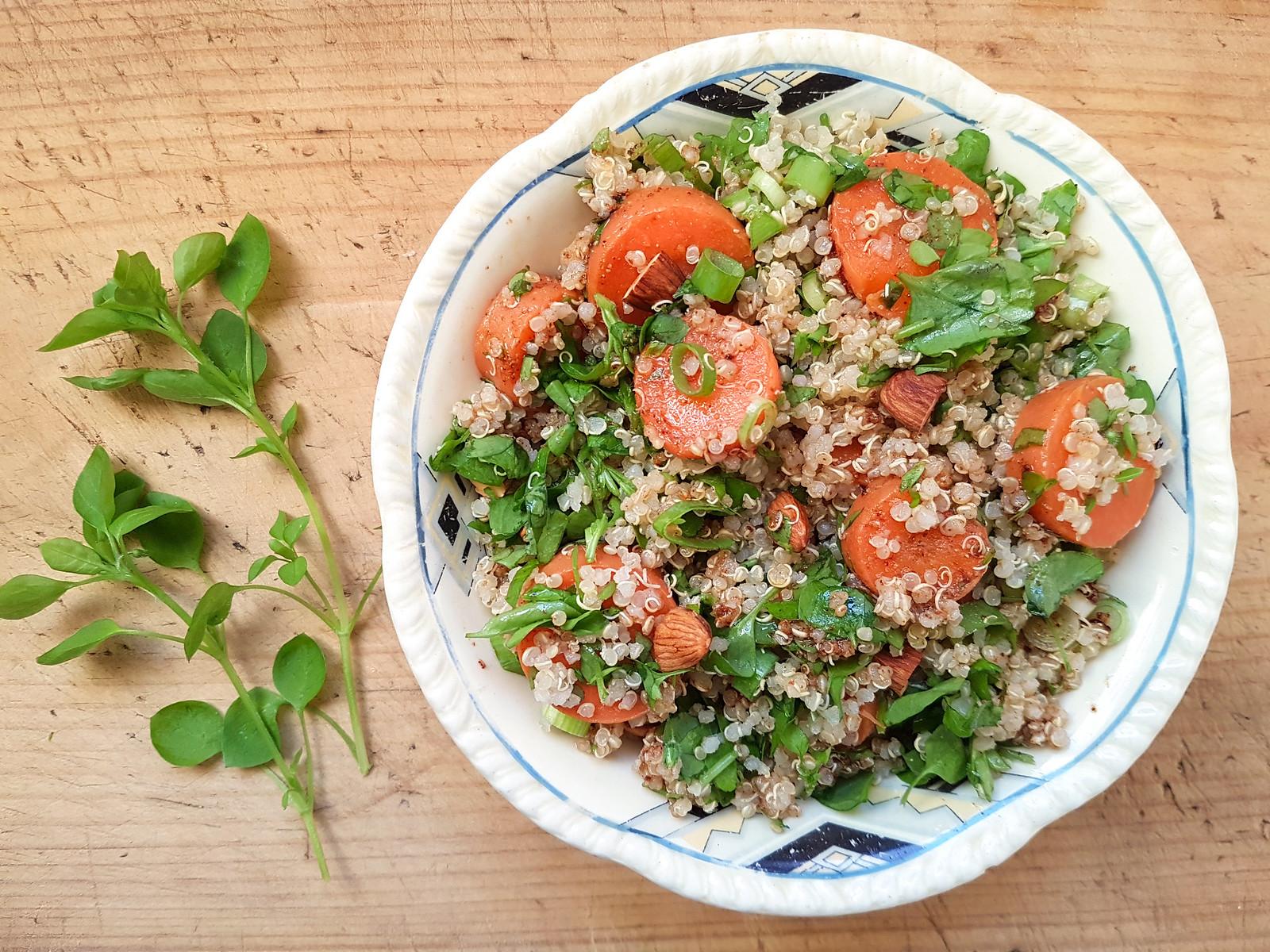 chickweed quinoa salad