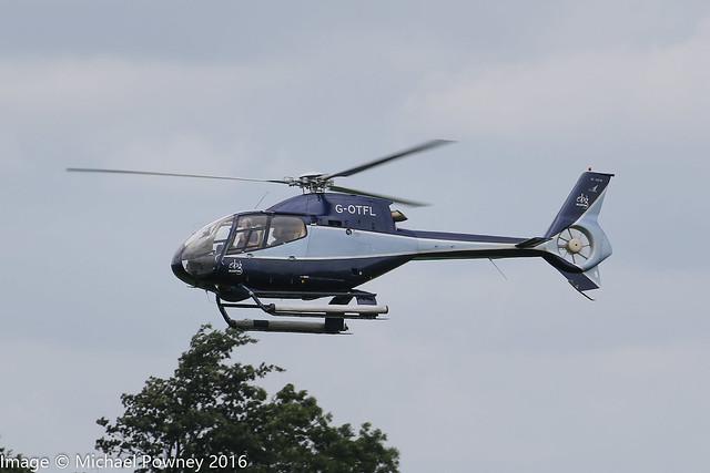 G-OTFL - 1999 build Eurocopter EC120B Colibri, arriving at Sywell during Aero/Heli Expo 2016