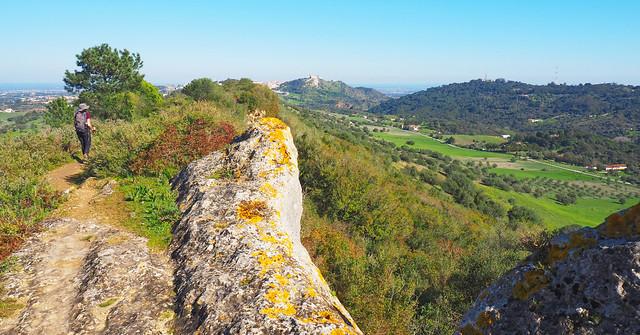 Walking the windmill ridge, Arrabida Natural Park, Setubal, Portugal