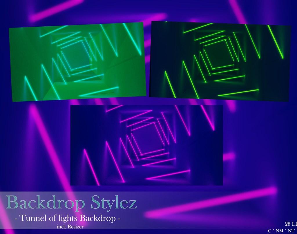 Backdrop Stylez – Tunnel of lights Backdrop –