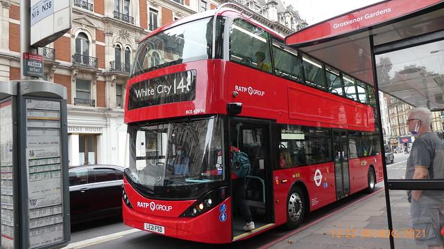 P1030626 BCE47036 LE21 FSD at Grosvenor Gardens Victoria London