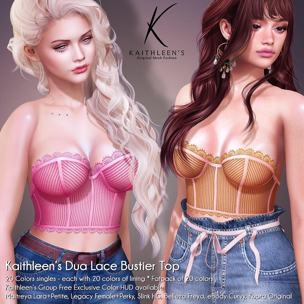 Kaithleen's Dua Lace Bustier Top Poster sl