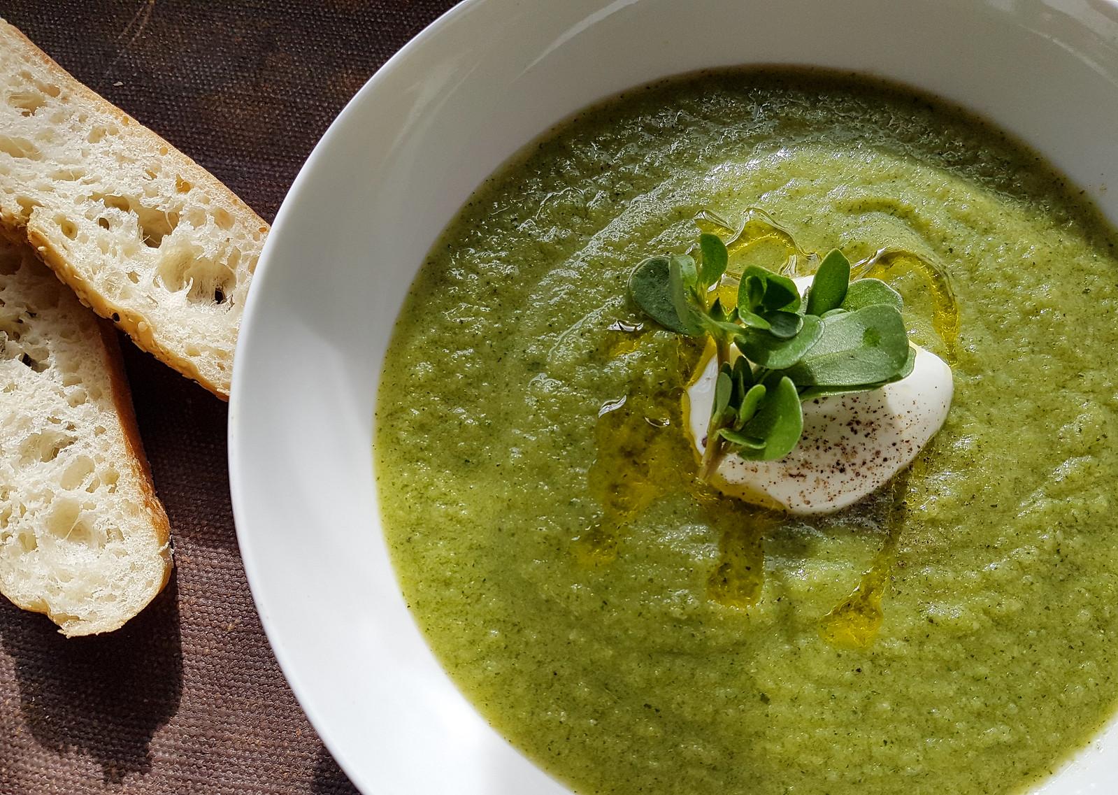 purslane zucchini soup