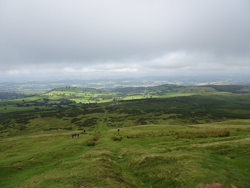 Cloudy start - looking north west from the path up Hay Bluff