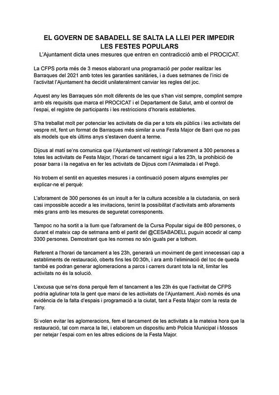 Comunicat Barraques 2021