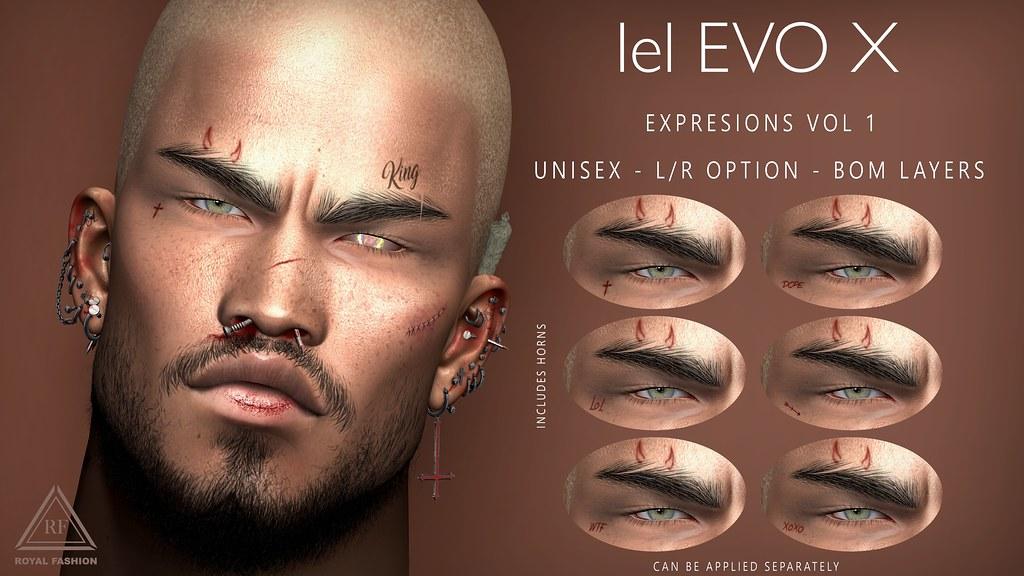 [ Royal Fashion ] Expresions Vol 1 Lelutka EVOX