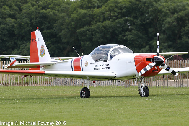 G-BYRY - 1987 build Slingsby T.67M-200 Firefly, at Sywell during Aero Expo 2016