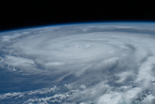 Hurricane Ida is pictured as a category 2 storm