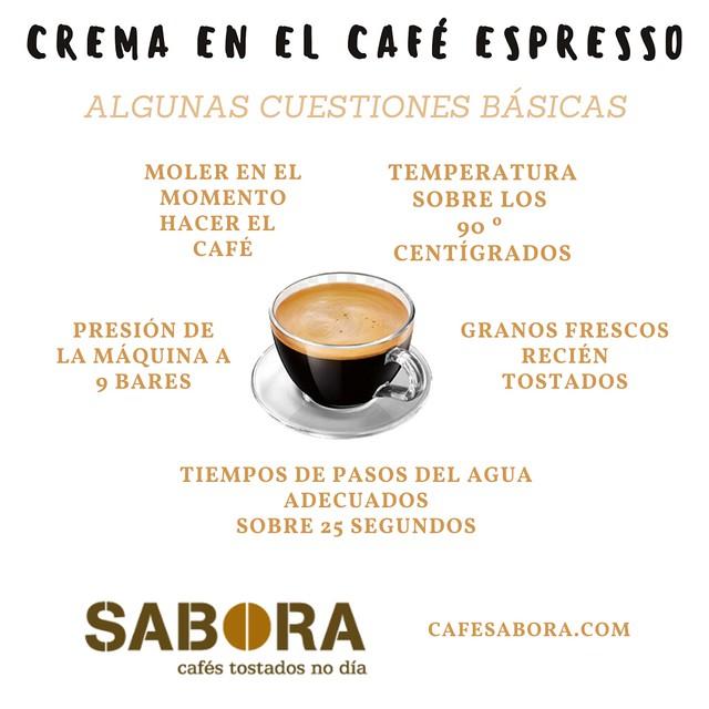 Cuestiones básicas para obtener crema en el café espresso
