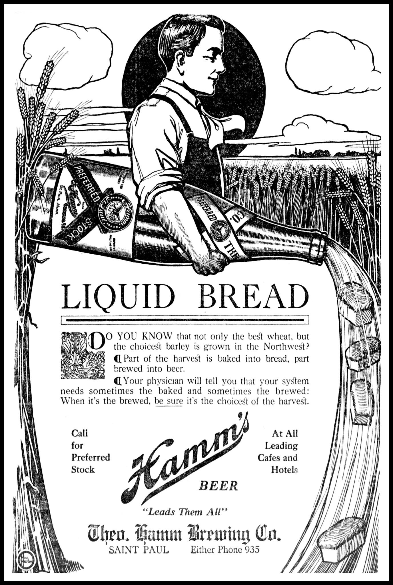Hamm's Beer - August 1, 1910