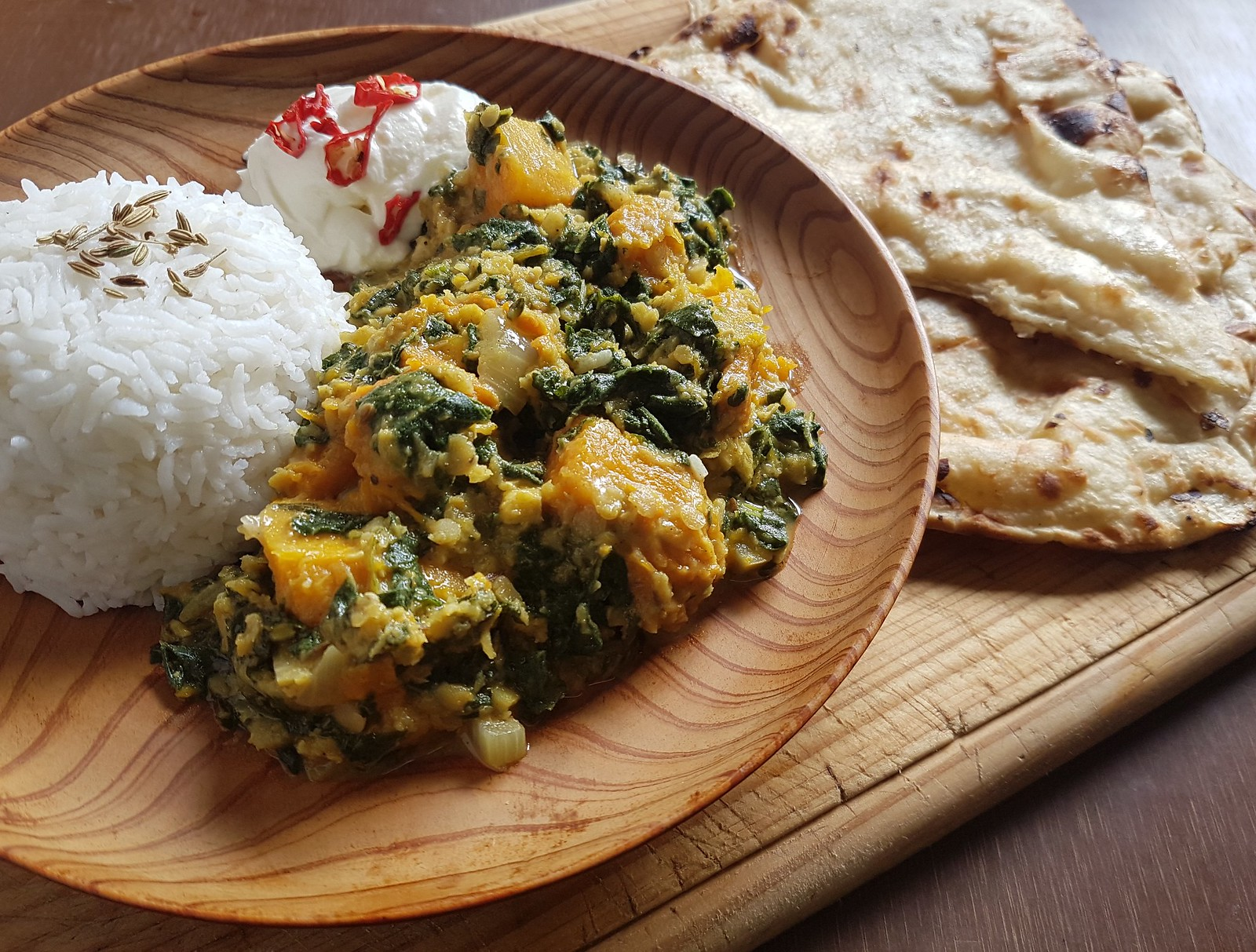 mallow pumpkin curry