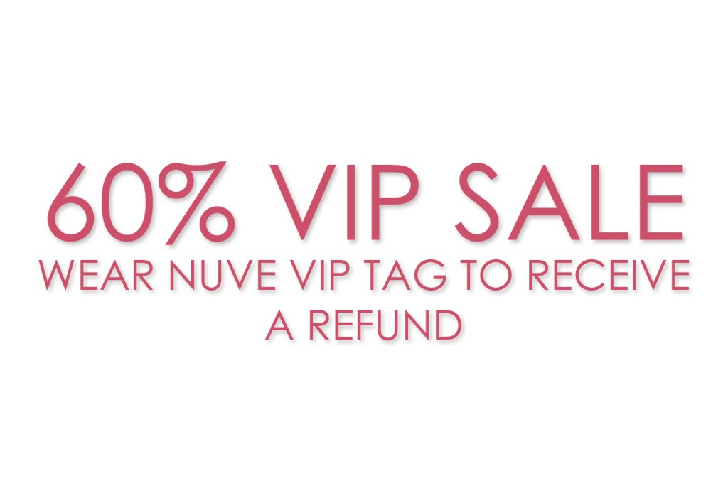 60% VIP SALE (31 August – 3 September)