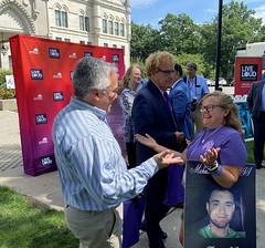 House Republican Leader Vincent Candelora attended International Overdose Awareness Day.