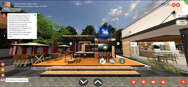 Thaifex Anuga Asia virtual trade exhibition singha
