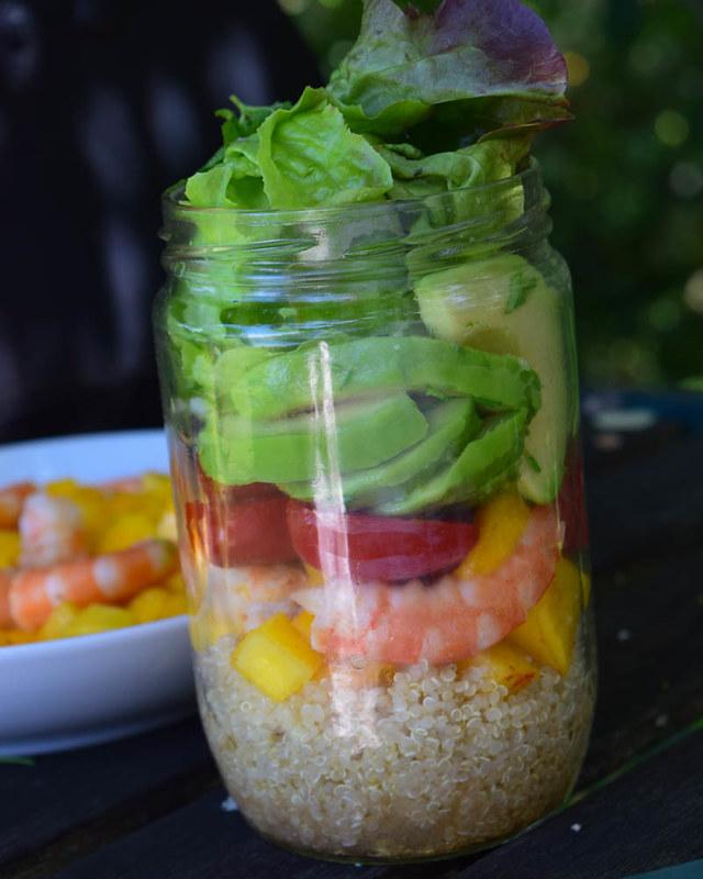 Salade en bocal (salad jar exotique) 1
