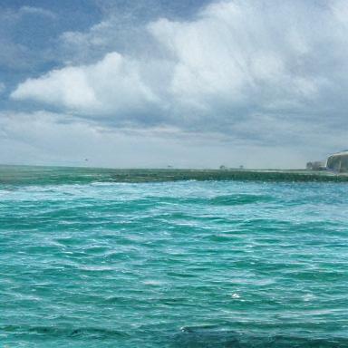 a rough seascape