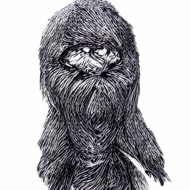 a drawing of Chewbacca