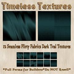 TT 12 Seamless Flirty Fabrics Dark Teal Timeless Textures