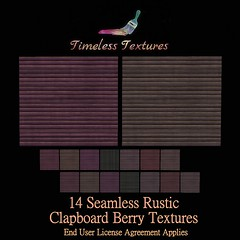 TT 14 Seamless Rustic Clapboard Berry Timeless Textures
