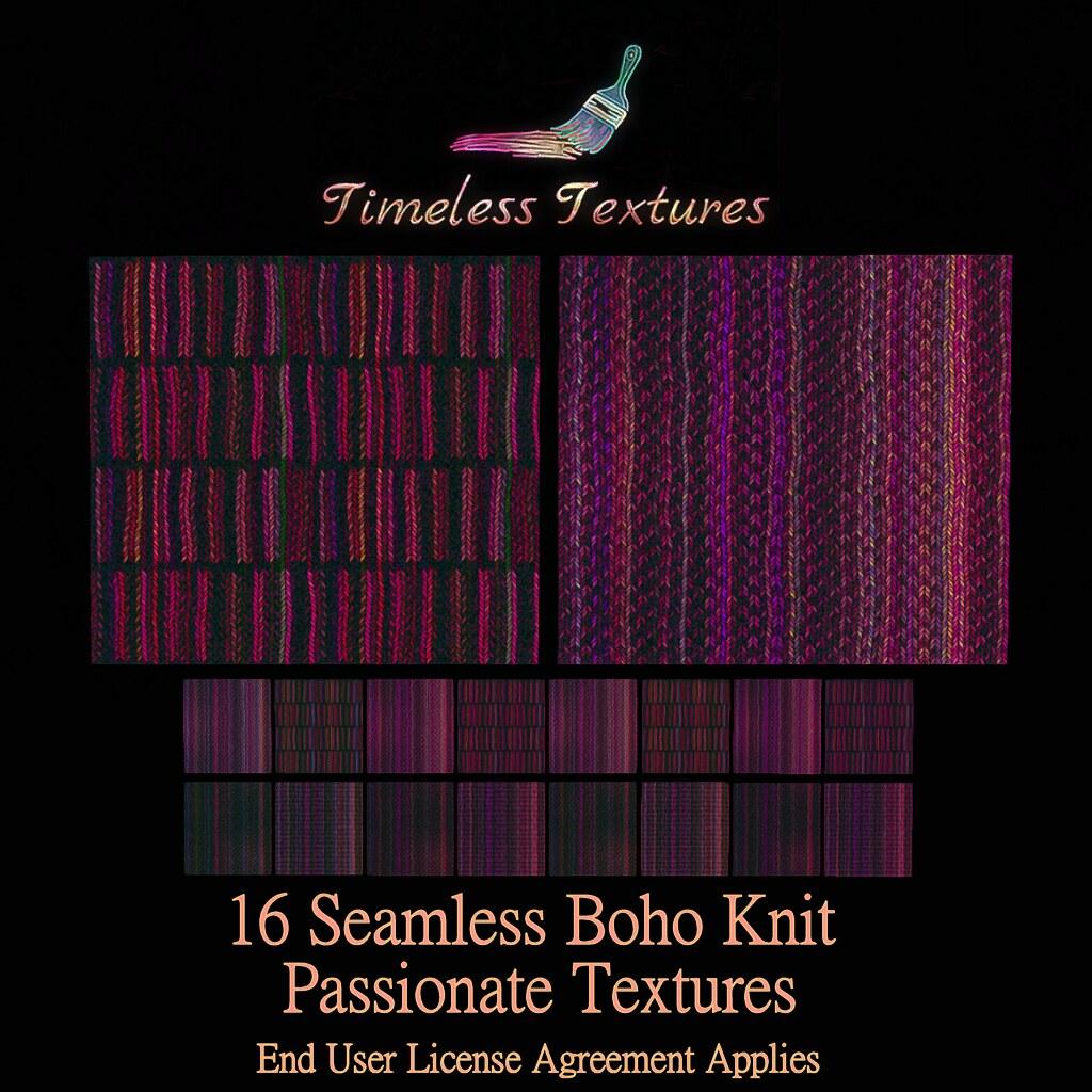 TT 16 Seamless Boho Knit Passionate Timeless Textures