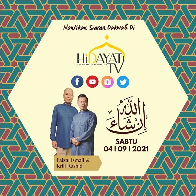 Faizal Ismail &Amp; Krill Rashid Tubuhkan Hidayat Tv, Bakal Bersiaran Mulai 4 September Ini