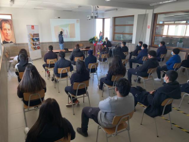 Charla CODELCO Chuquicamata subterránea en colegio Don Bosco Calama