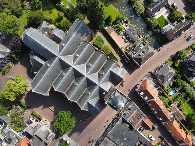 Vianen church DJI mini 2 drone fly over aerial