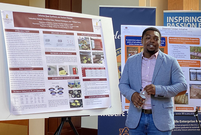 Johnathan Mitchell presents research.