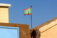Mauritanian flag in Akjoujt, Mauritania