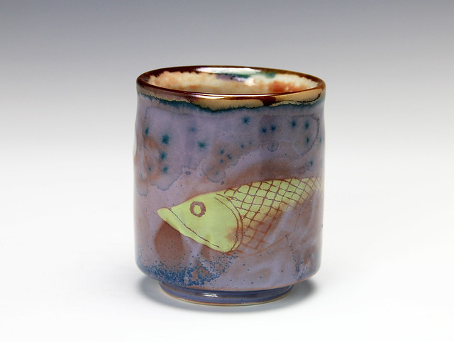 Shino Porcelain Pottery Cup 5 - Bruce Gholson