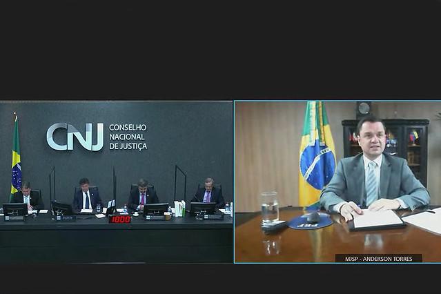 31/08/2021 Solenidade de assinatura de prorrogação de termo de cooperação técnica com Ministério da Justiça e Segurança Pública (MJSP) e Ministério da Infraestrutura, sobre Renajud