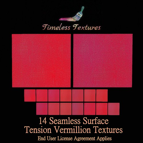 TT 14 Seamless Surface Tension Vermillion Timeless Textures