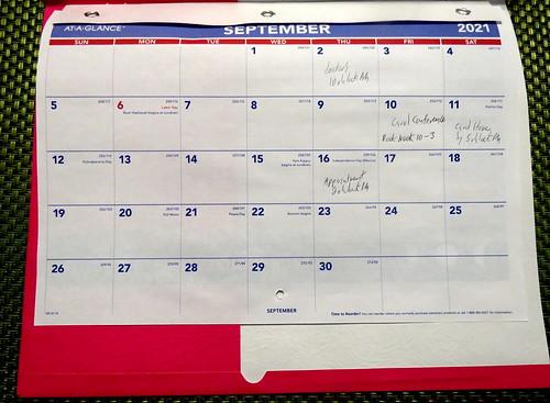 September 2021 Diary