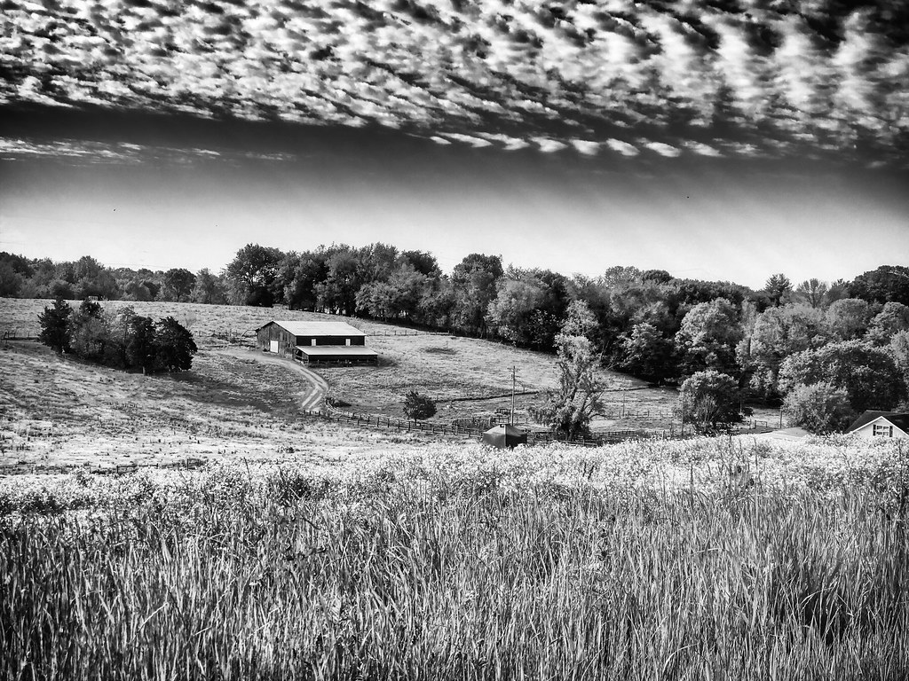 Rippeled Sky Over Farm