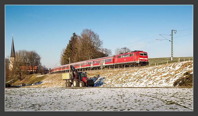 111 024, bei Föching, 27.Feb 2016