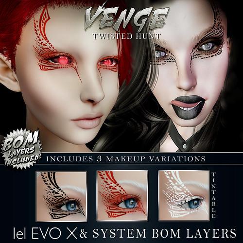 VENGE - 'Veil Seeker' Face Tattoo Advert Twisted hunt
