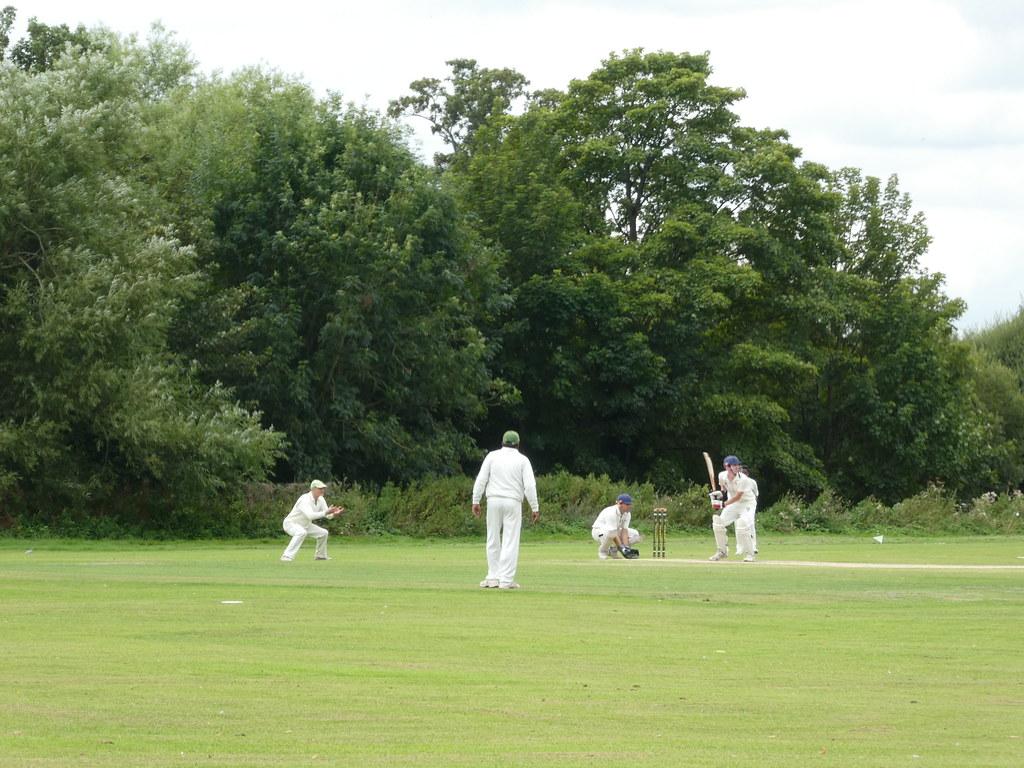 Cricket match in Northcroft Park, Newbury
