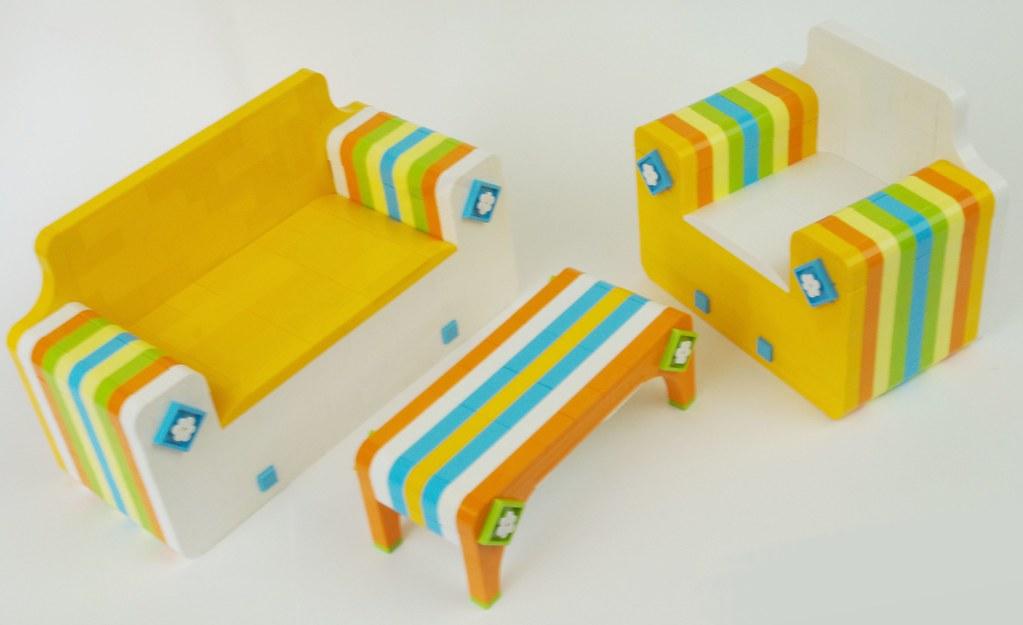 2021 - lego foam poolside furniture