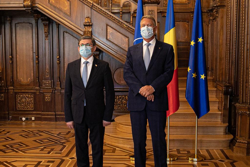 01.09.2021 Întrevederea Președintelui Parlamentului, Igor Grosu, cu Președintele României, Klaus Iohannis