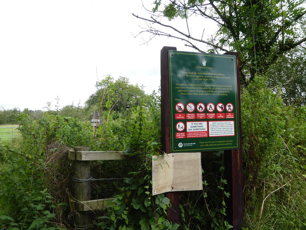 Permissive footpath through the Sutton Estate