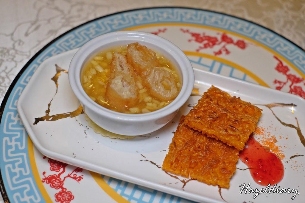 Tien Court Restaurant At Copthorne King's Hotel Singapore - Tau Sua and Crispy Noodles Dessert