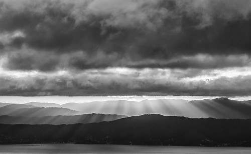 <p>Gods fingers splay over Wainuiomata as seen from Wrights Hill.</p>