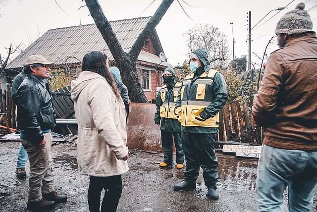 Equipos comunales de emergencia realizaron intensos trabajos en frente de mal tiempo