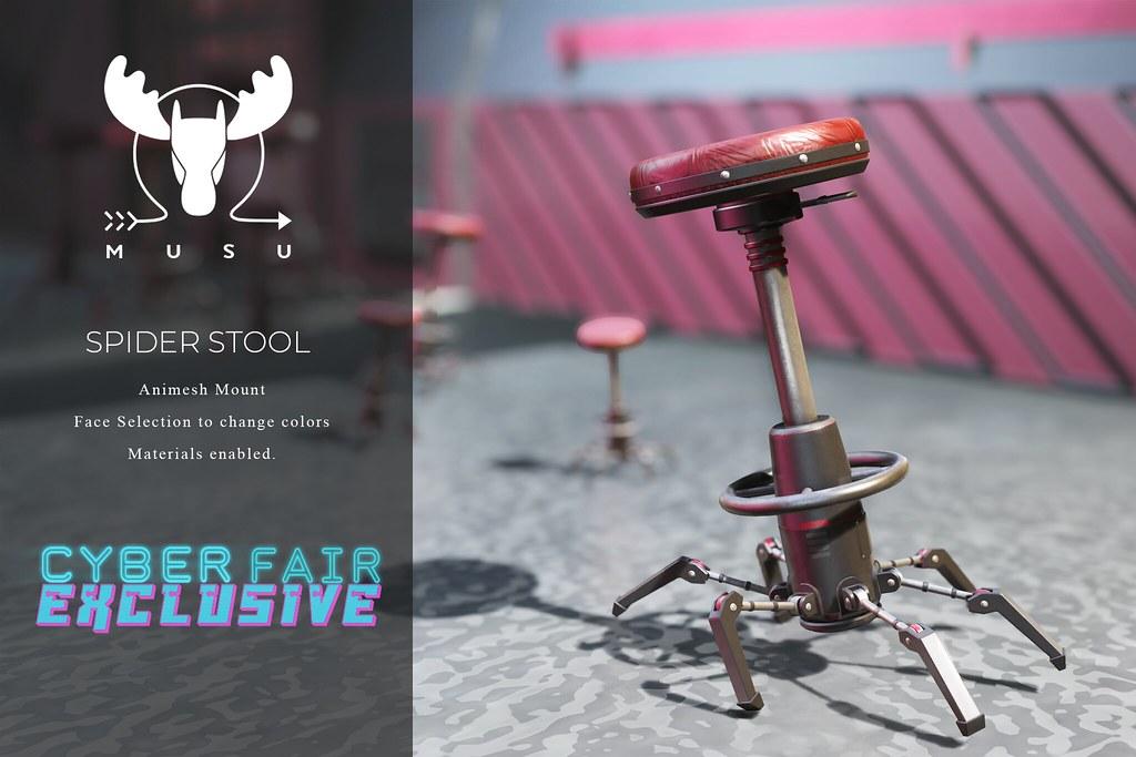 -MUSU- Spider Stool @ Cyber Fair