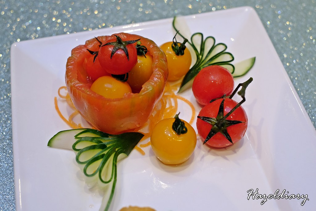 Tien Court Restaurant At Copthorne King's Hotel Singapore -Frozen Marinated Cherry Tomato with Plum