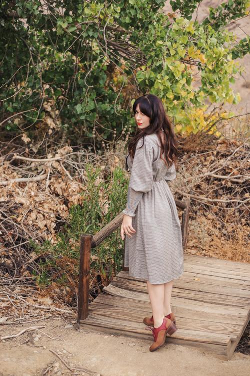 Sister Jane Handkerchief Check Midi Dress