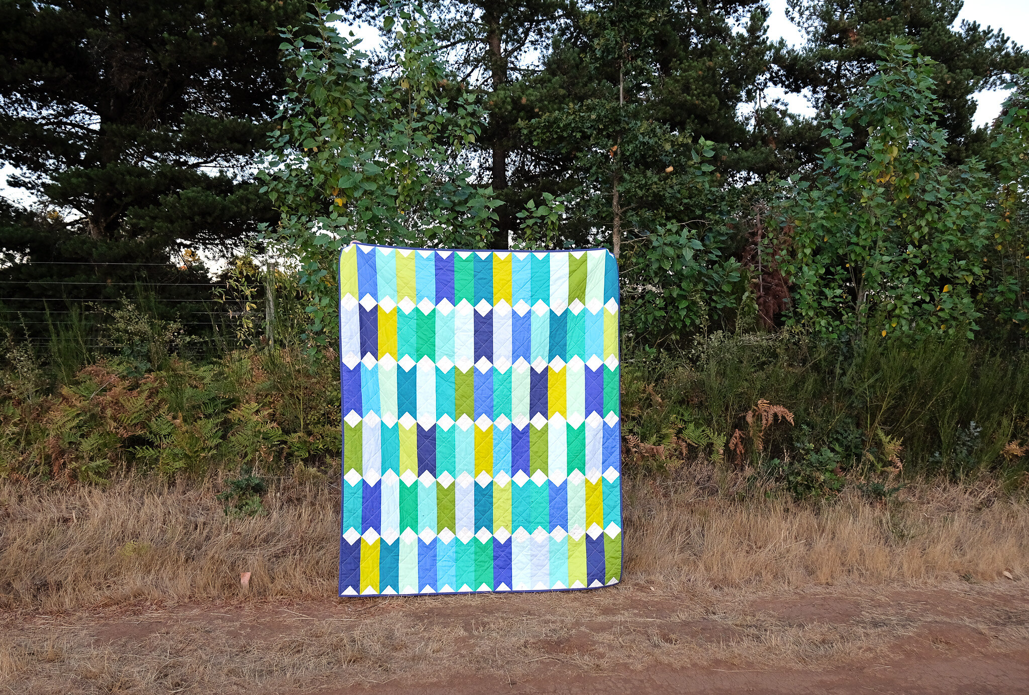 The Virginia Quilt in Tula Pink Solids - Kitchen Table Quilting