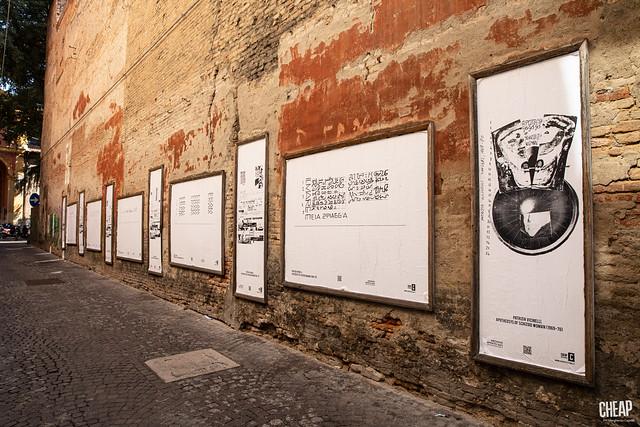 Patrizia Vicinelli - in transito: l'affissione di CHEAP per Archivio Aperto